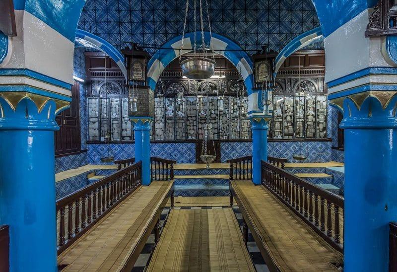 El Ghriba Synagogue in Djerba, Tunisia. Oldest Synagogue in Africa.
