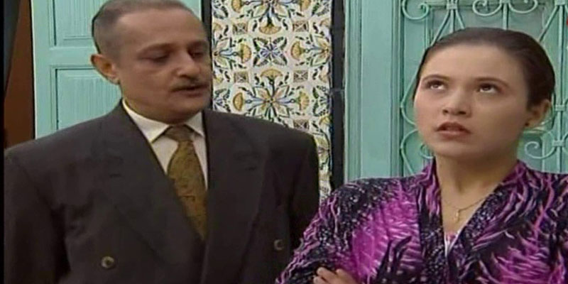A scene of a father and his daughter from one of the most popular Tunisian series, El Khotab Al-Beb.