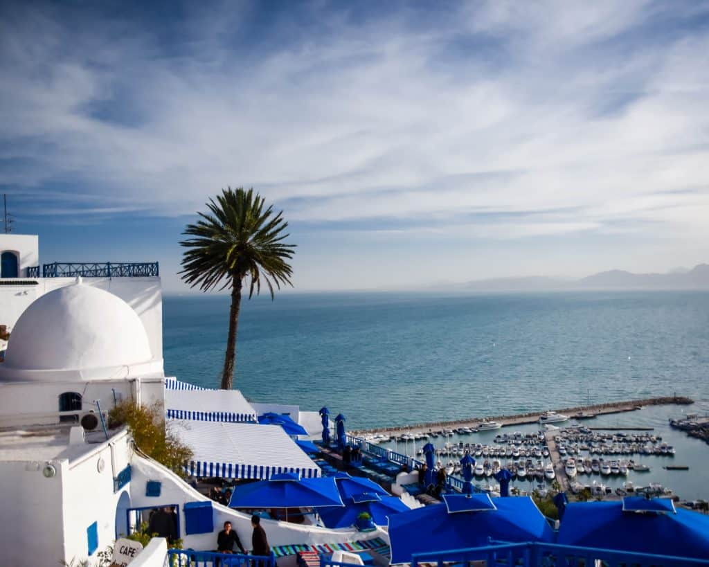 Sidi Bou said. The View from Cafe Delices