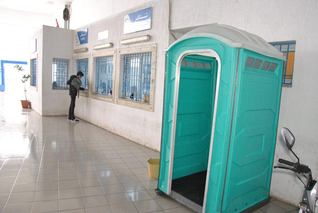 Portable wash basins in Tunis to fight against coronavirus