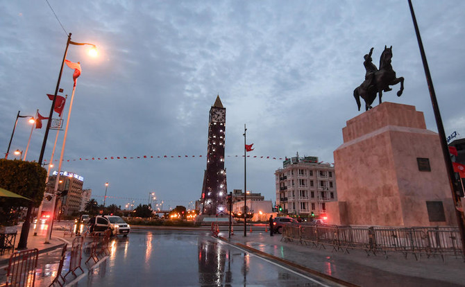 Tunis street in Lockdown. March 2020.