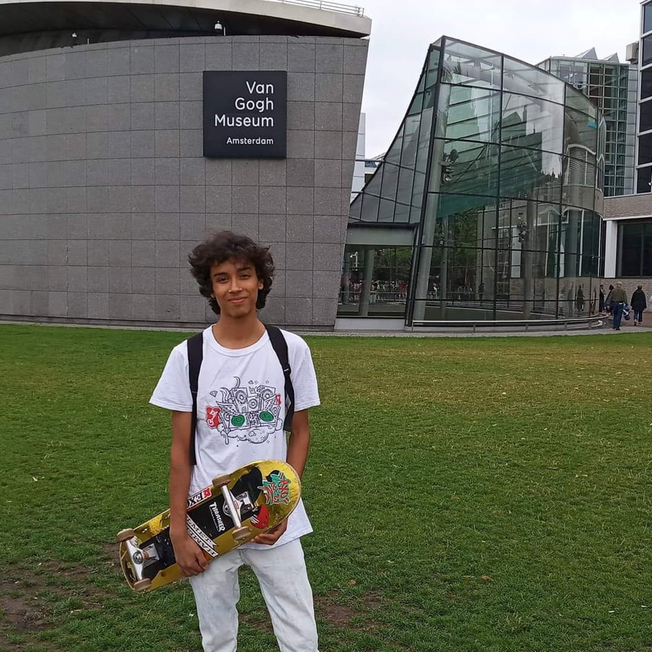 Sami Gattoufi at the Van Gogh Museum while his visit to Amsterdam
