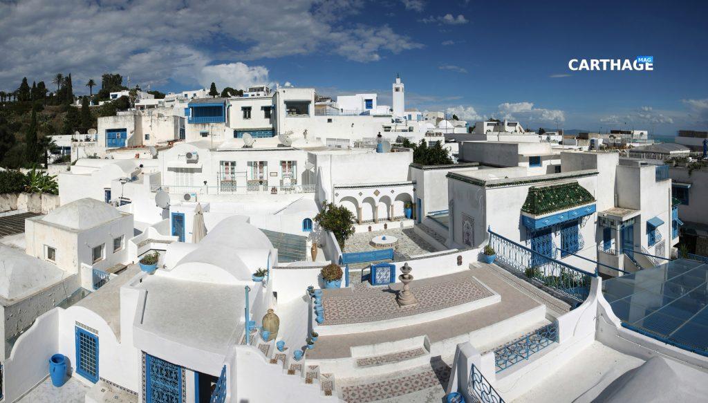 A view of Sidi Bou Said, Tunisia.