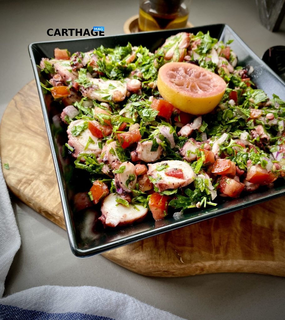 Tunisian seafood salad