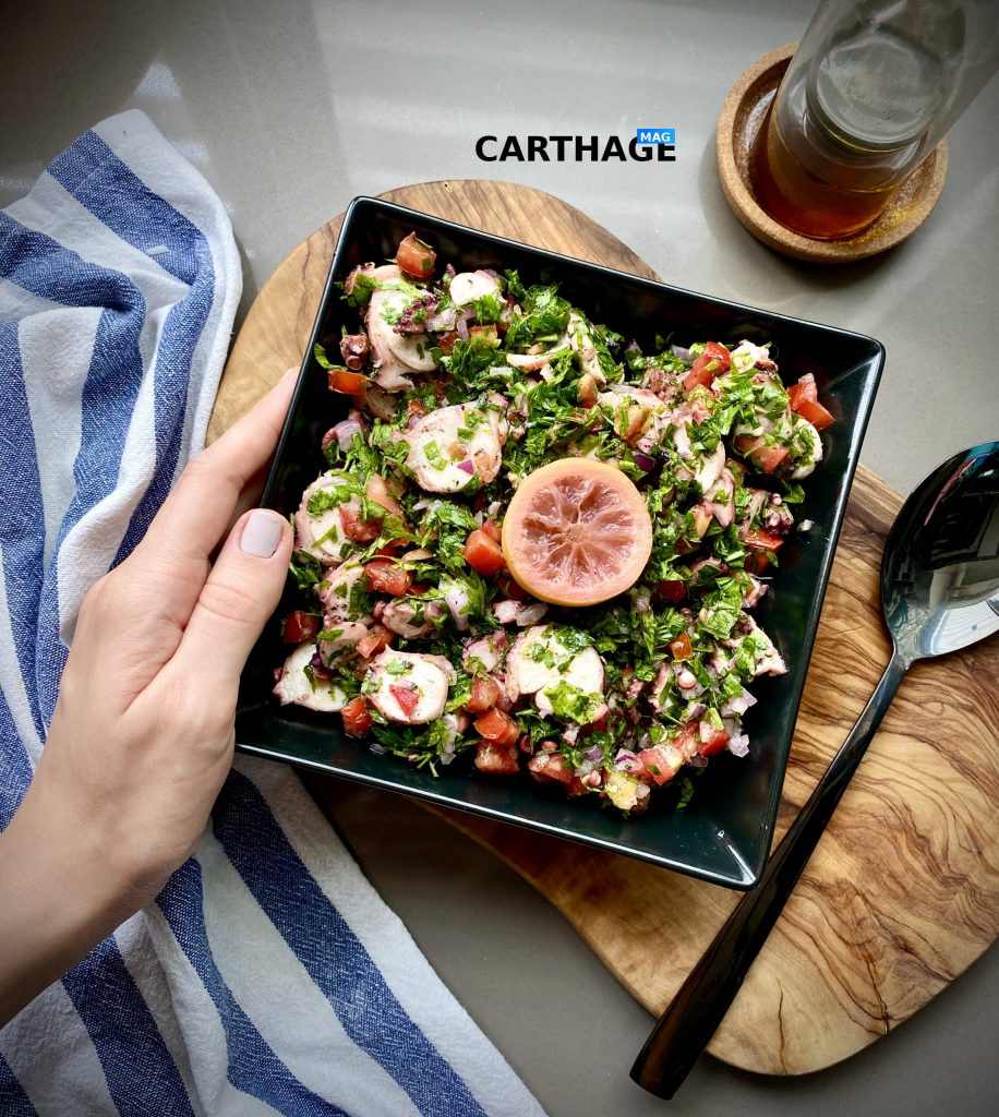 Octopus Salad: the best Tunisian seafood salad