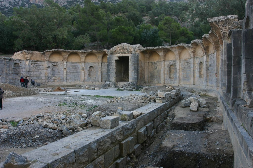 Remains of the sacred spring at Zaghouan.