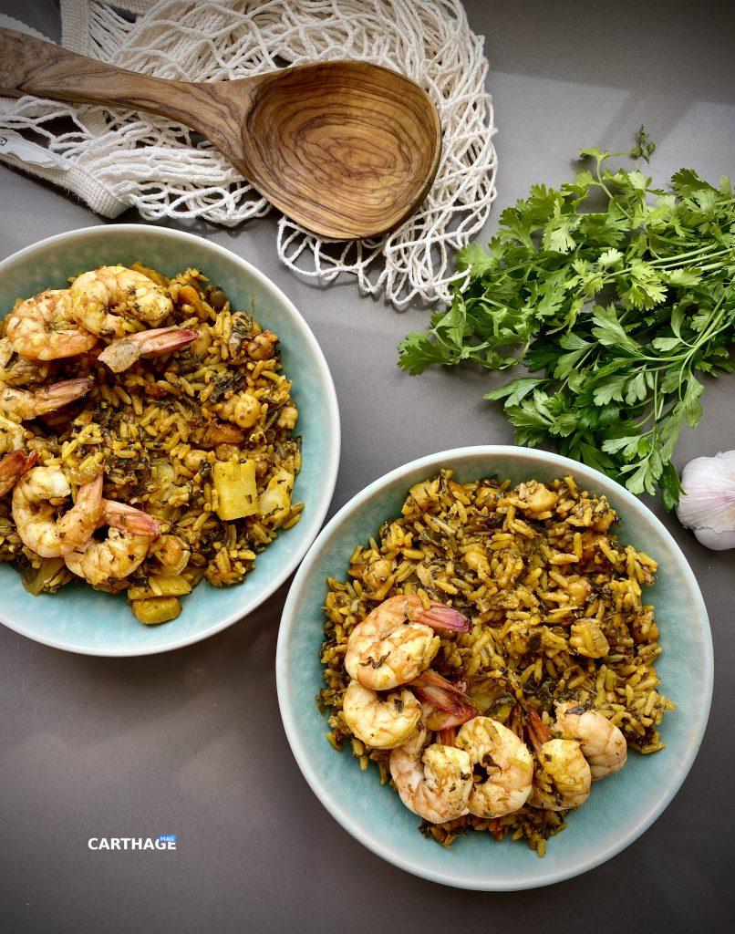 Tunisian Rice: Rouz Jerbi