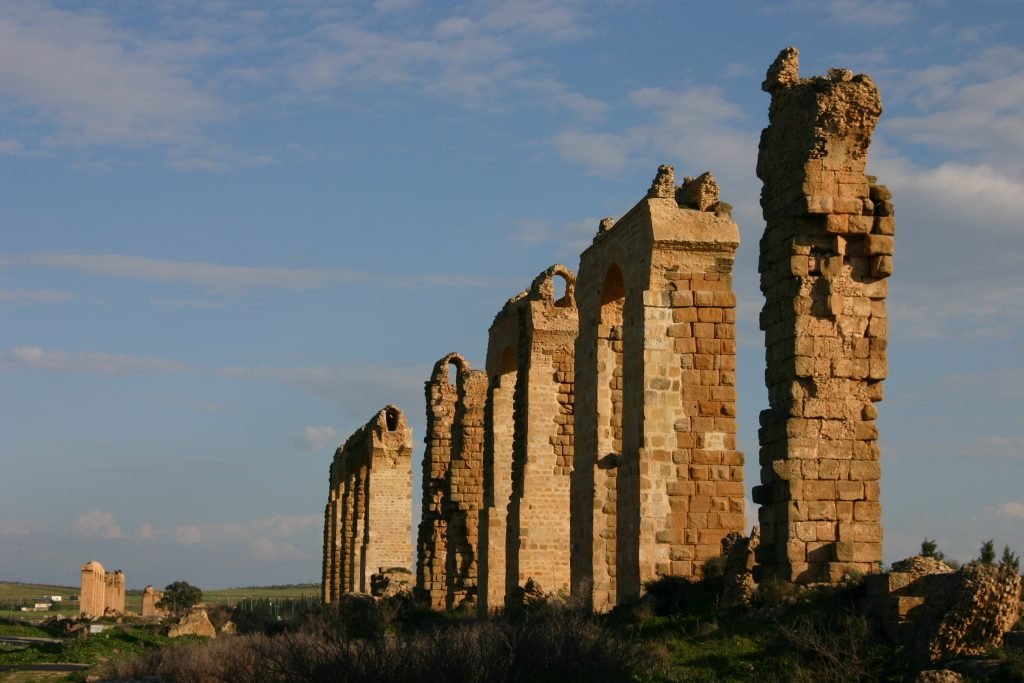 Zaghouan Aqueduct, near Mohammedia, Ben Arous.
