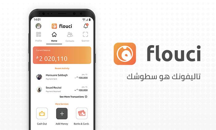 Flouci mobile application.