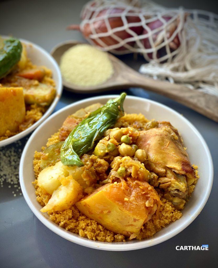 Tunisian Couscous dish. Shot taken by Rahma Rekik for Carthage Magazine.