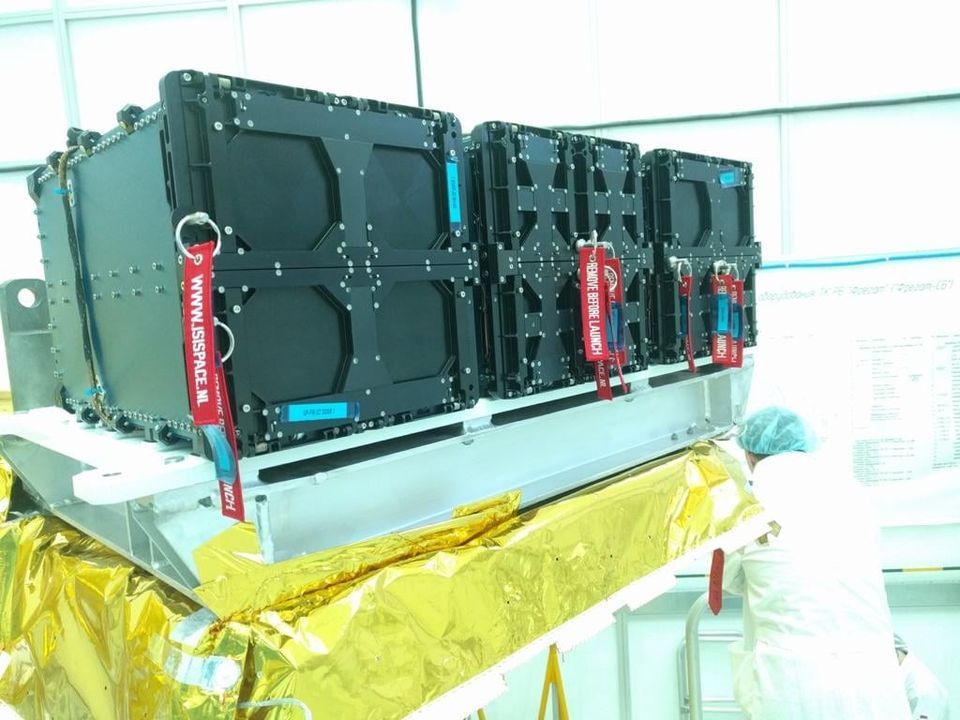 Challenge One Tunisian Satellite components. Photo taken from Telnet Holding Facebook page.