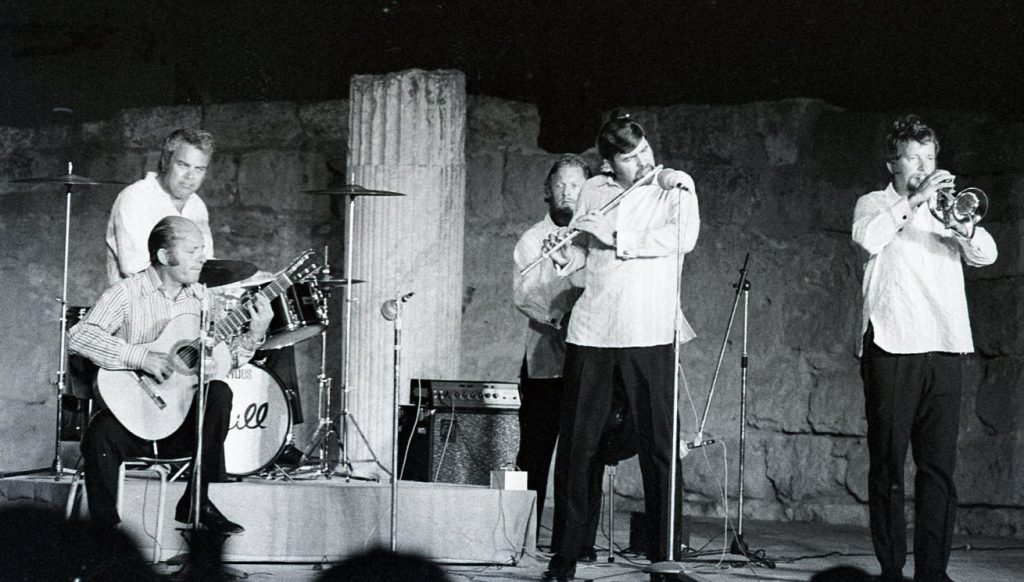 Charlie Brid, performing at the International Festival of Carthage, 1969.