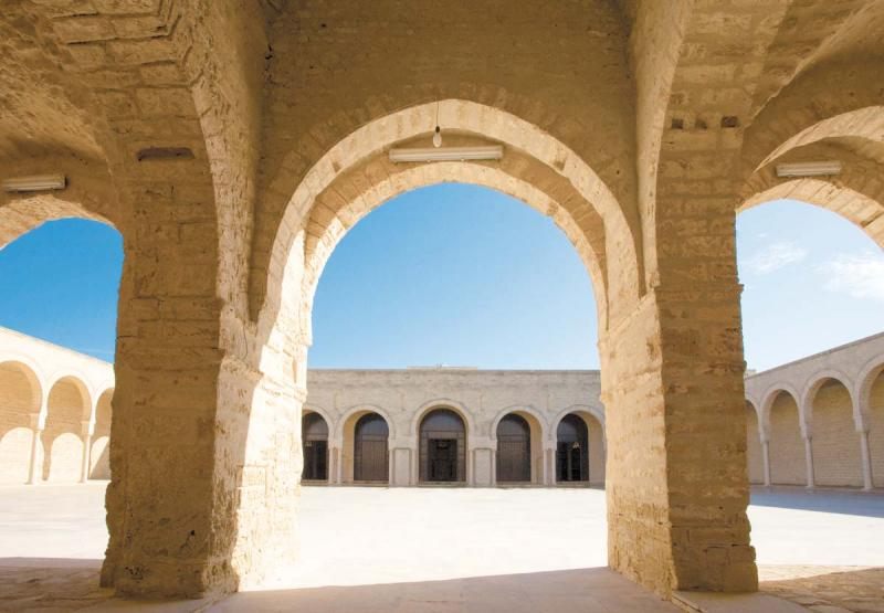 Courtyard of the Grand Mosque in Mahdia.