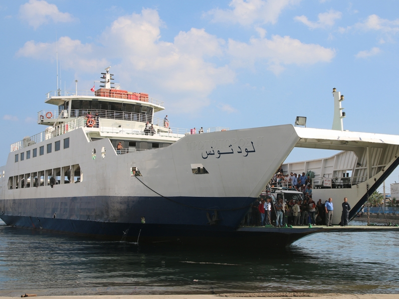 The ferry line between Sfax and Kerkennah.
