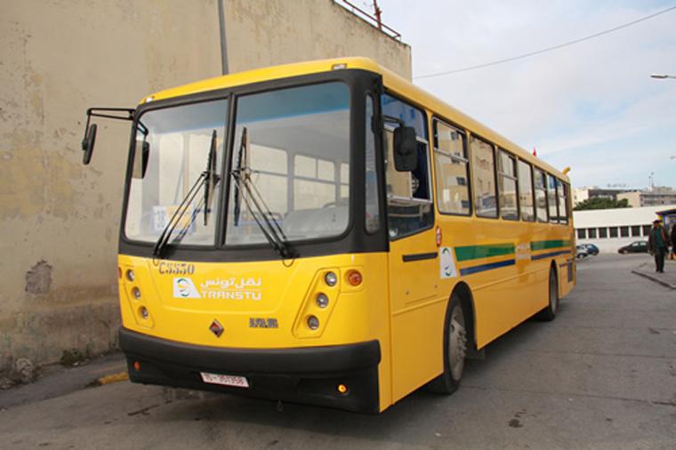 Local transport bus in Tunis, Tunisia.