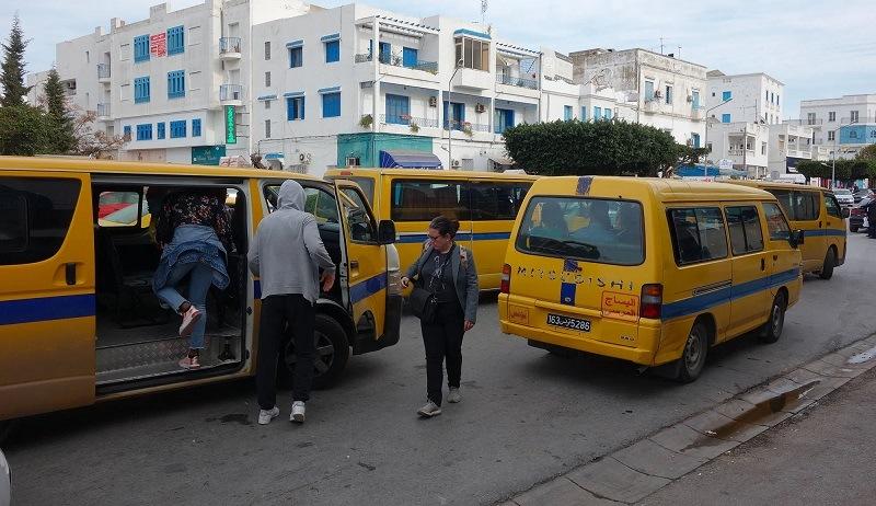 Minius Share Taxis in Tunis, Tunisia.