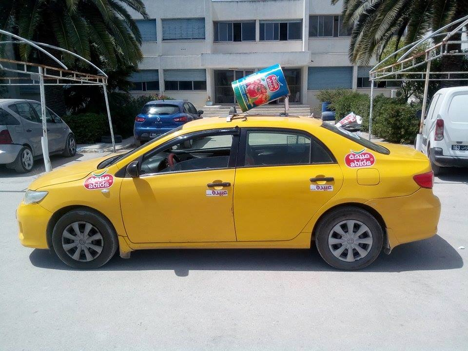 Taxi in Tunis.