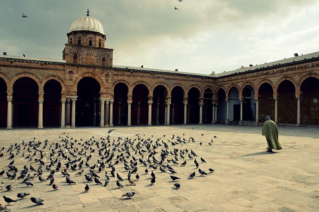 The Great Mosque of Ez-Zitouna in Tunis, Tunisia.