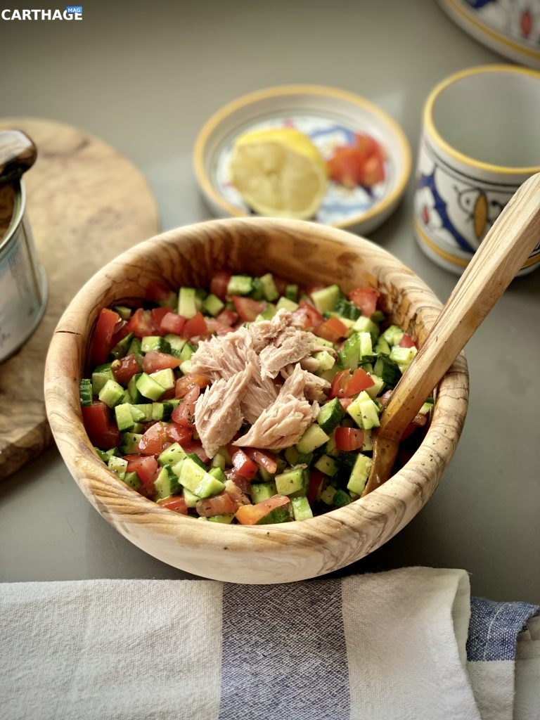 Tunisian Salad - Slata Tounsia | Shot taken by Rahma Rekik for Carthage Magazine.
