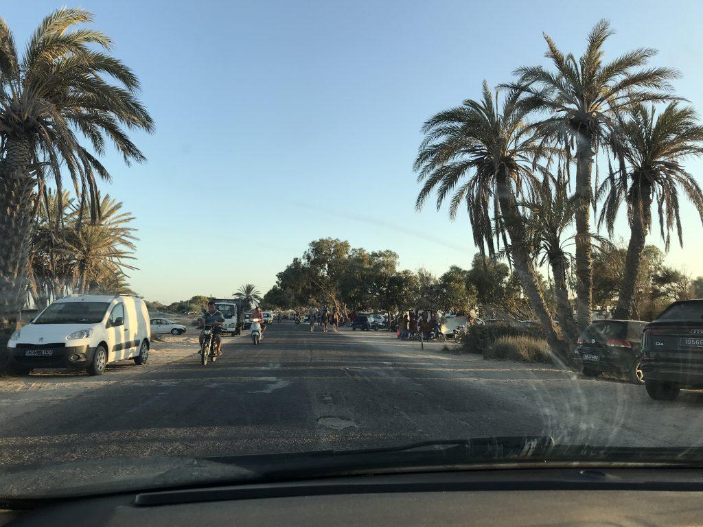 Having a ride in Sidi Jmour.
