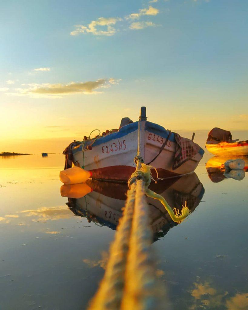 A small fishing boat in Sidi Jmour, djerba. Photo by Seyf Zayoud